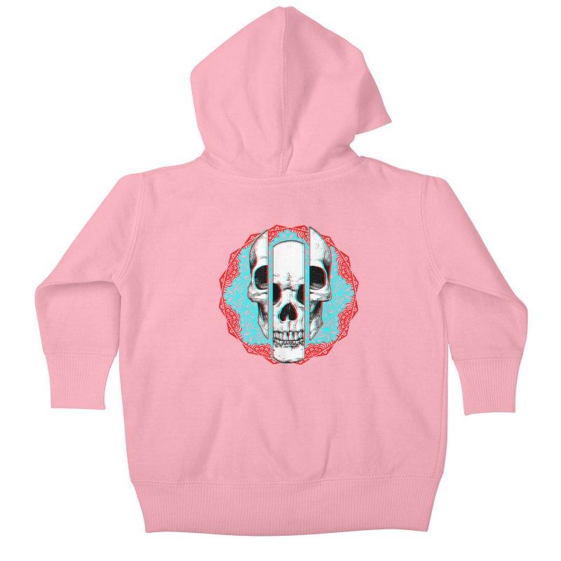 Mandala Skull Kids Baby Zip-Up Hoody by ES427's Artist Shop
