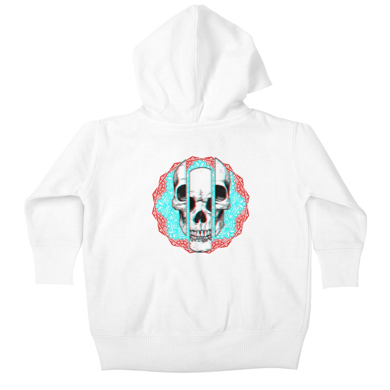 Mandala Skull Kids Baby Zip-Up Hoody by ES427's Artist Shop