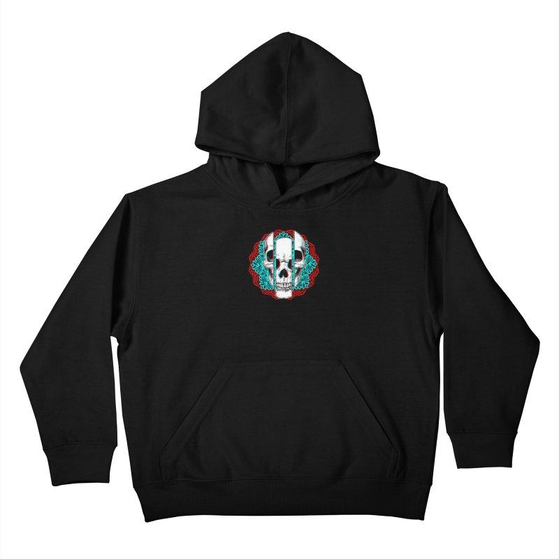 Mandala Skull Kids Pullover Hoody by ES427's Artist Shop