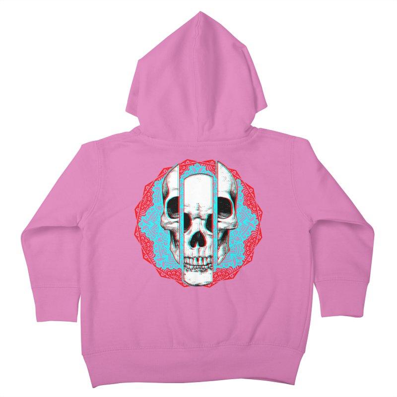 Mandala Skull Kids Toddler Zip-Up Hoody by ES427's Artist Shop