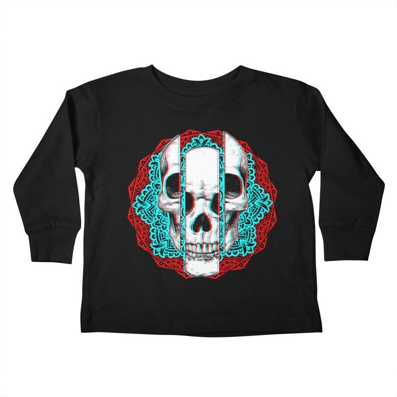 Mandala Skull Kids Toddler Longsleeve T-Shirt by ES427's Artist Shop