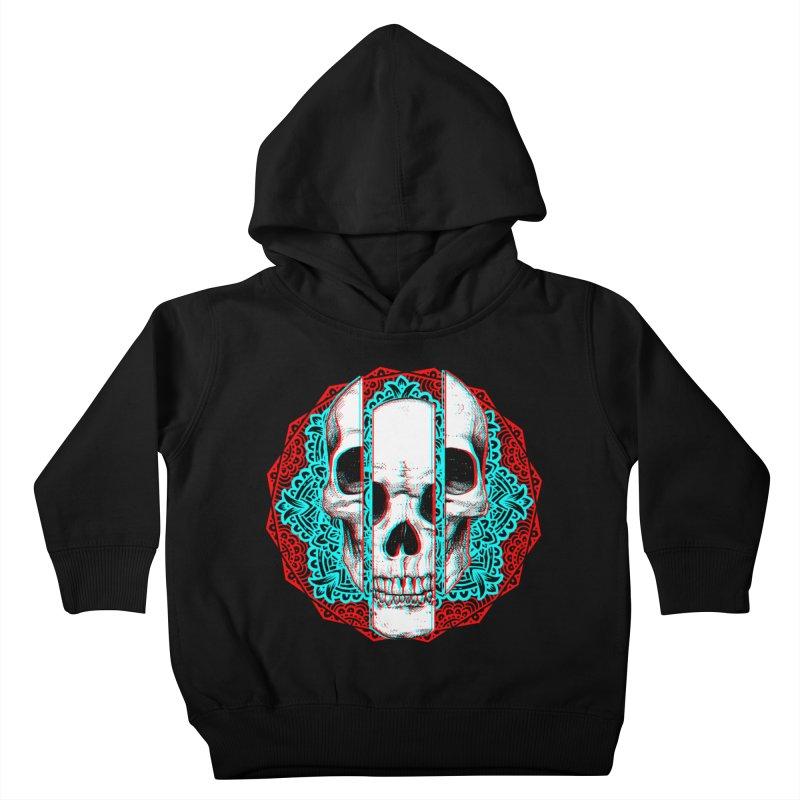 Mandala Skull Kids Toddler Pullover Hoody by ES427's Artist Shop