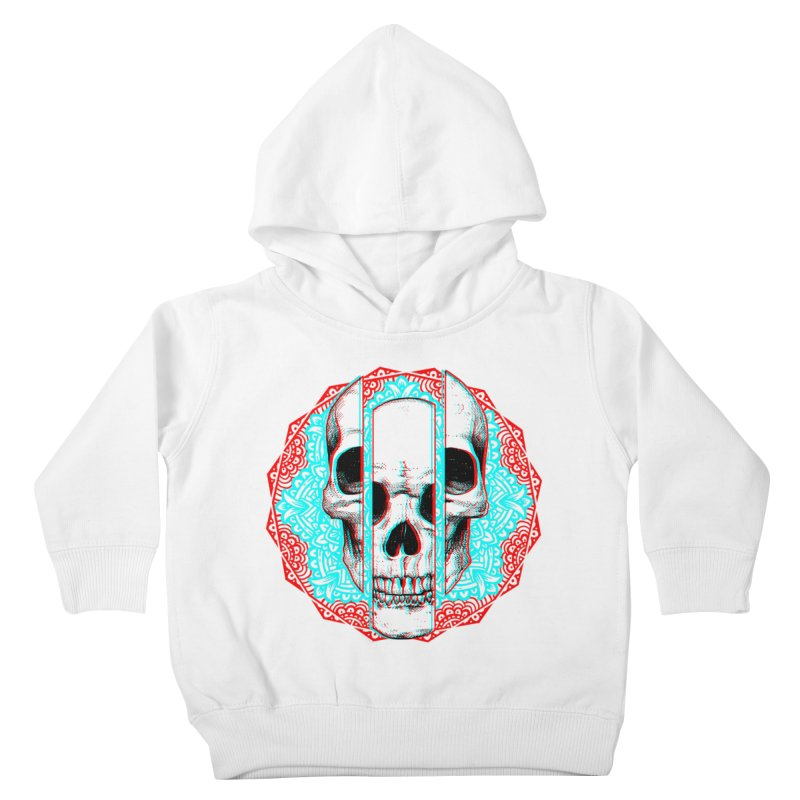 Mandala Skull Kids Toddler Pullover Hoody by ES427's Artist Shop