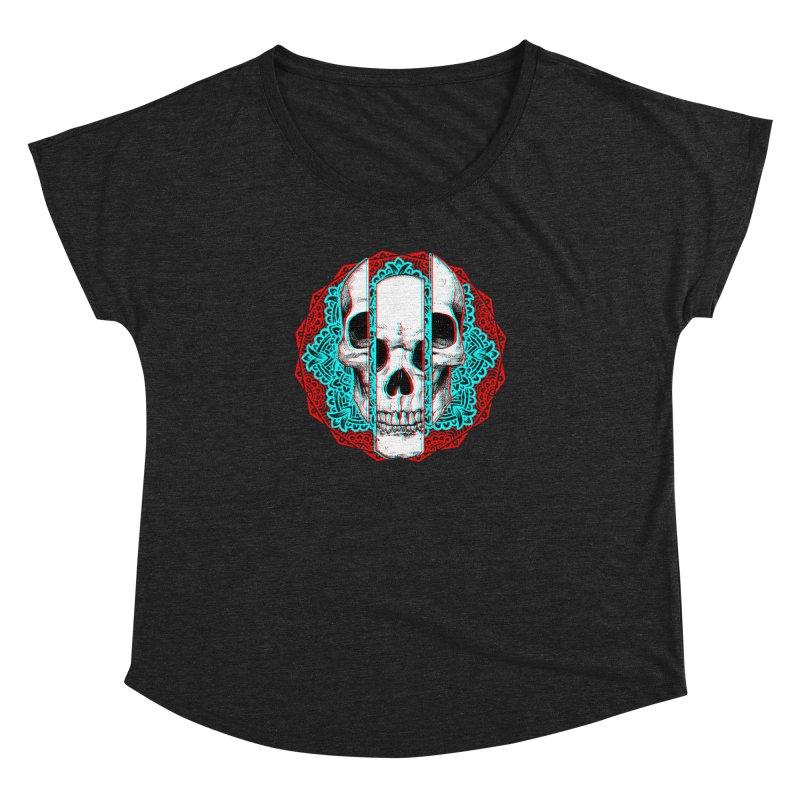 Mandala Skull Women's Dolman Scoop Neck by ES427's Artist Shop