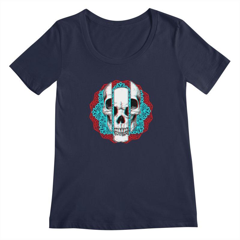 Mandala Skull Women's Regular Scoop Neck by ES427's Artist Shop