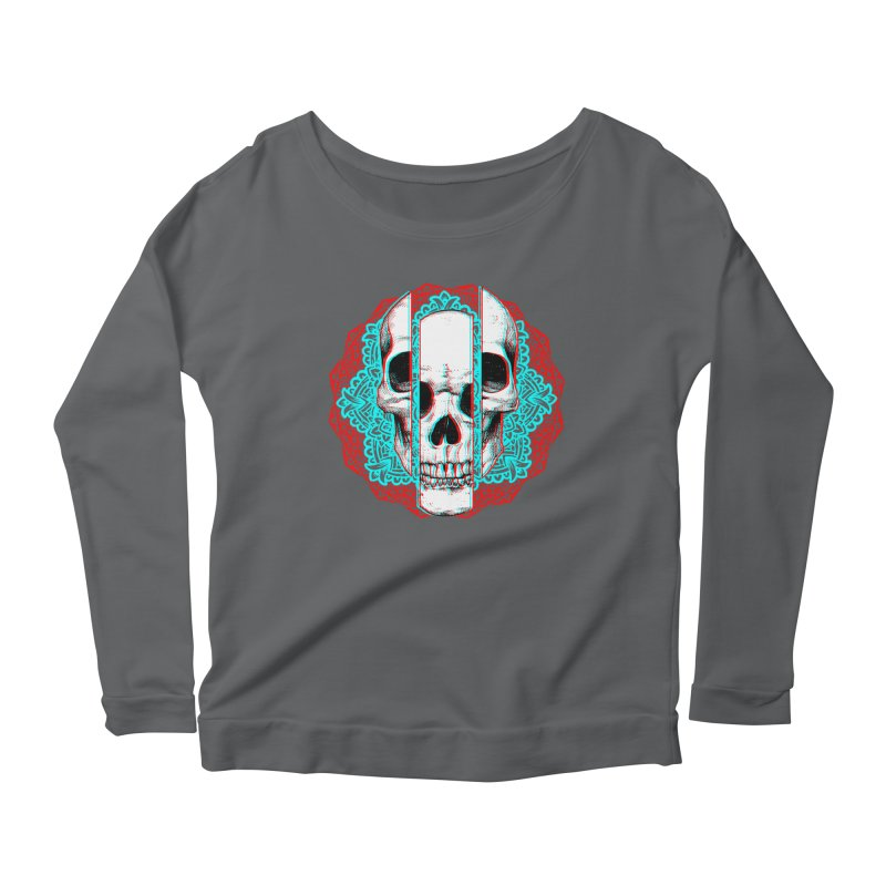 Mandala Skull Women's Scoop Neck Longsleeve T-Shirt by ES427's Artist Shop