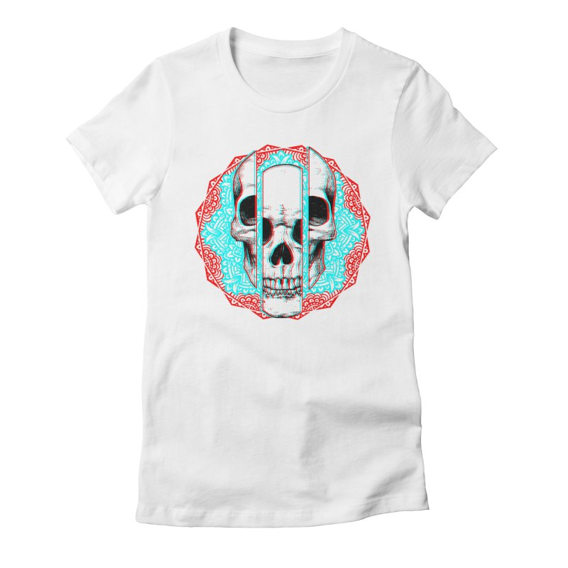 Mandala Skull Women's Fitted T-Shirt by ES427's Artist Shop