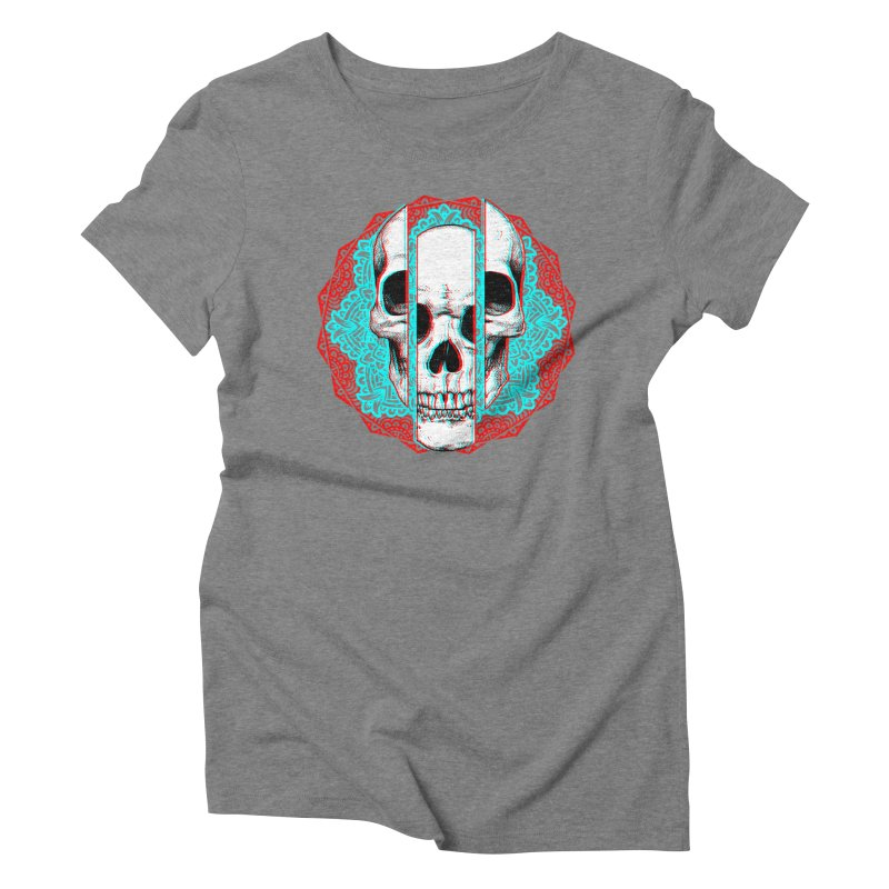 Mandala Skull Women's Triblend T-Shirt by ES427's Artist Shop