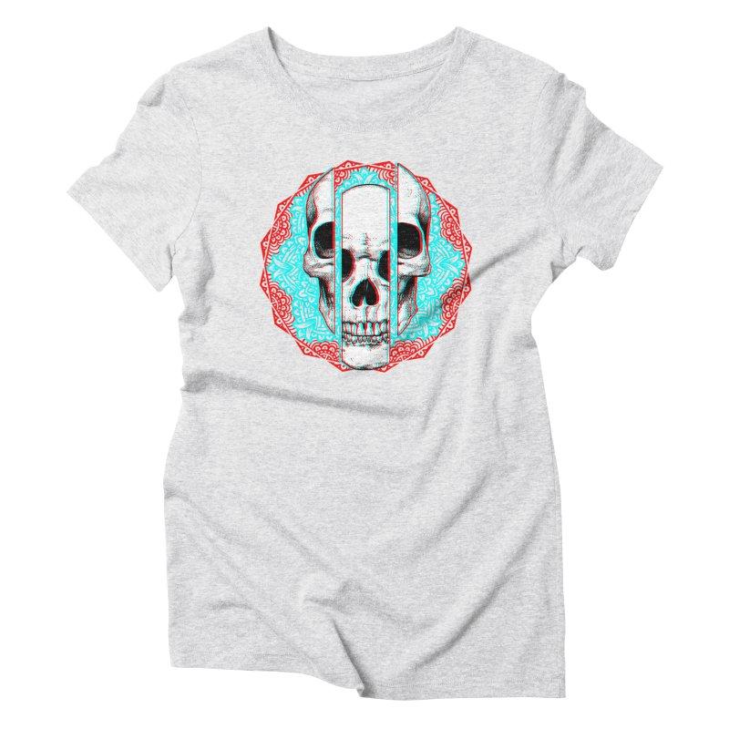 Mandala Skull Women's Triblend T-Shirt by ES427's Artist Shop