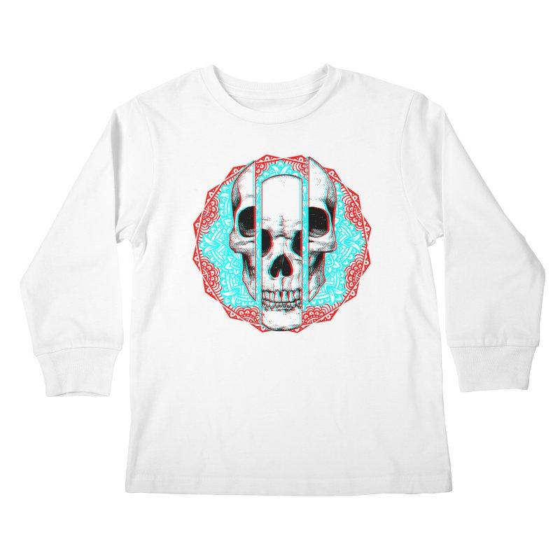 Mandala Skull Kids Longsleeve T-Shirt by ES427's Artist Shop