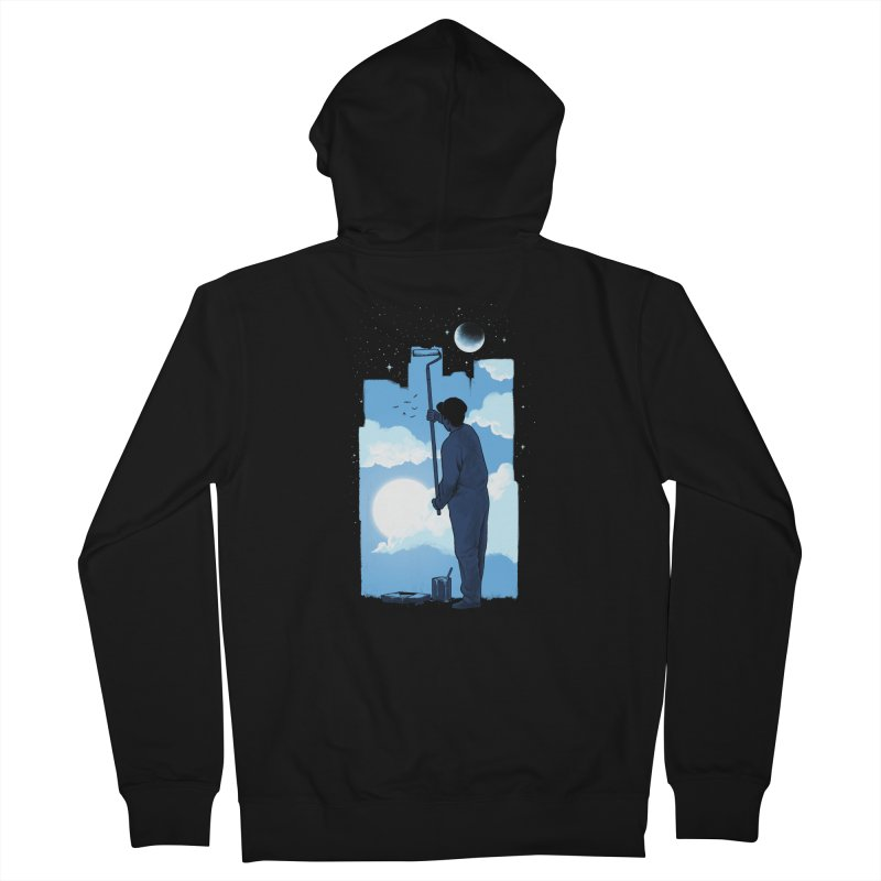 Turn of day Women's French Terry Zip-Up Hoody by ES427's Artist Shop