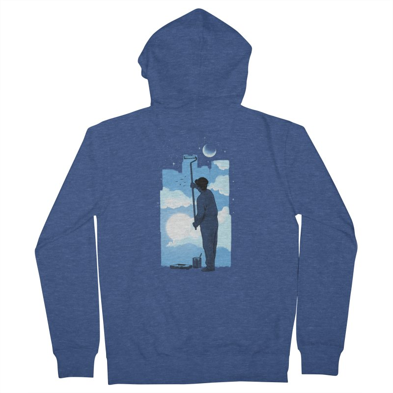 Turn of day Men's French Terry Zip-Up Hoody by ES427's Artist Shop