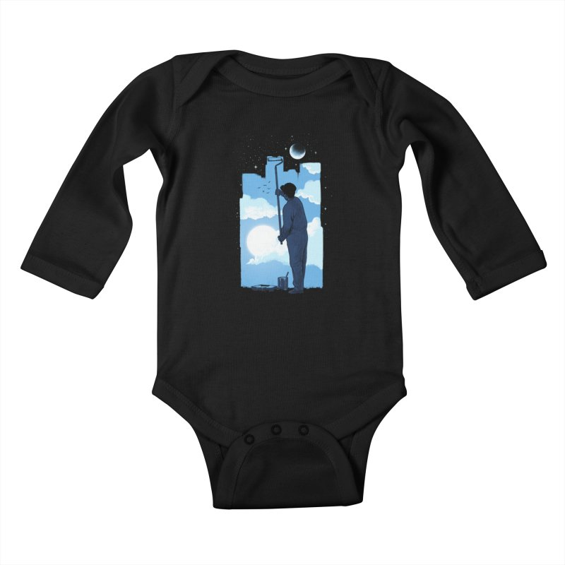 Turn of day Kids Baby Longsleeve Bodysuit by ES427's Artist Shop