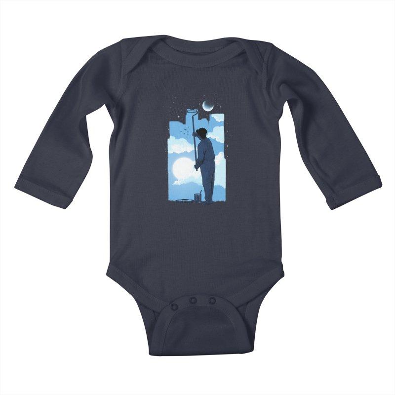 Turn of day Kids Baby Longsleeve Bodysuit by ES427's Artist Shop