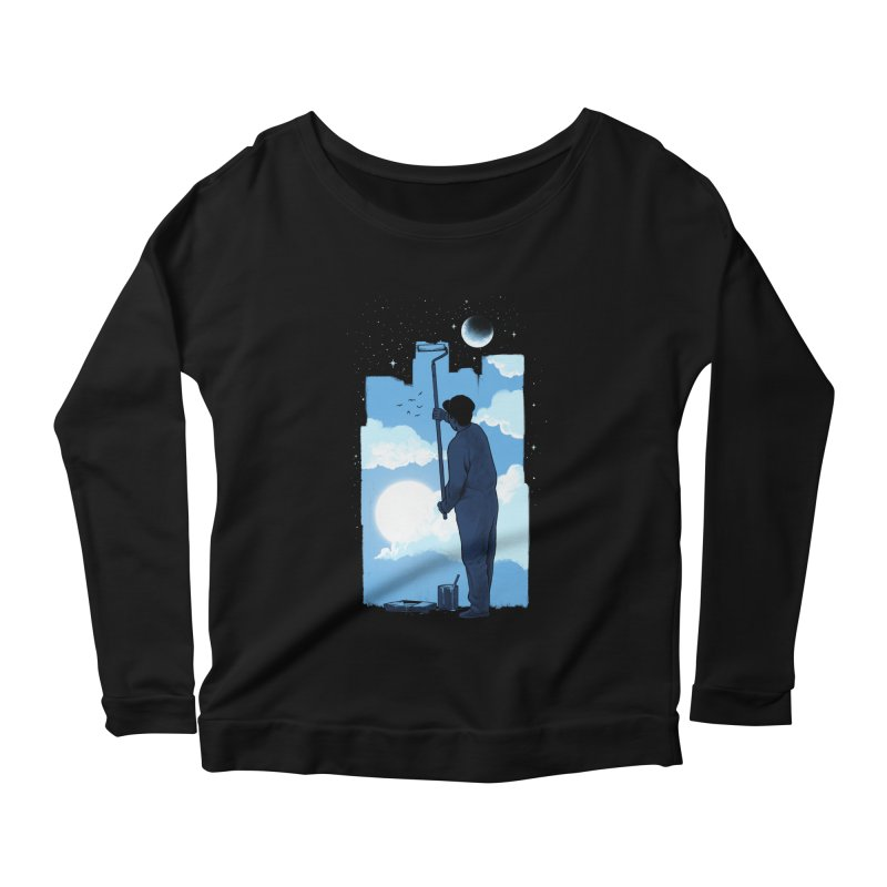 Turn of day Women's Scoop Neck Longsleeve T-Shirt by ES427's Artist Shop