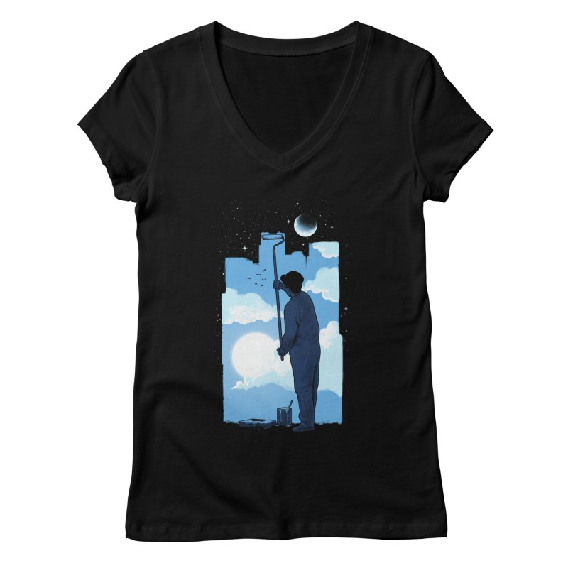 Turn of day Women's Regular V-Neck by ES427's Artist Shop