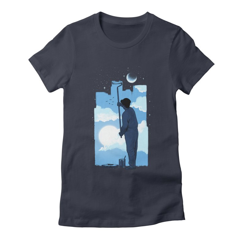 Turn of day Women's Fitted T-Shirt by ES427's Artist Shop