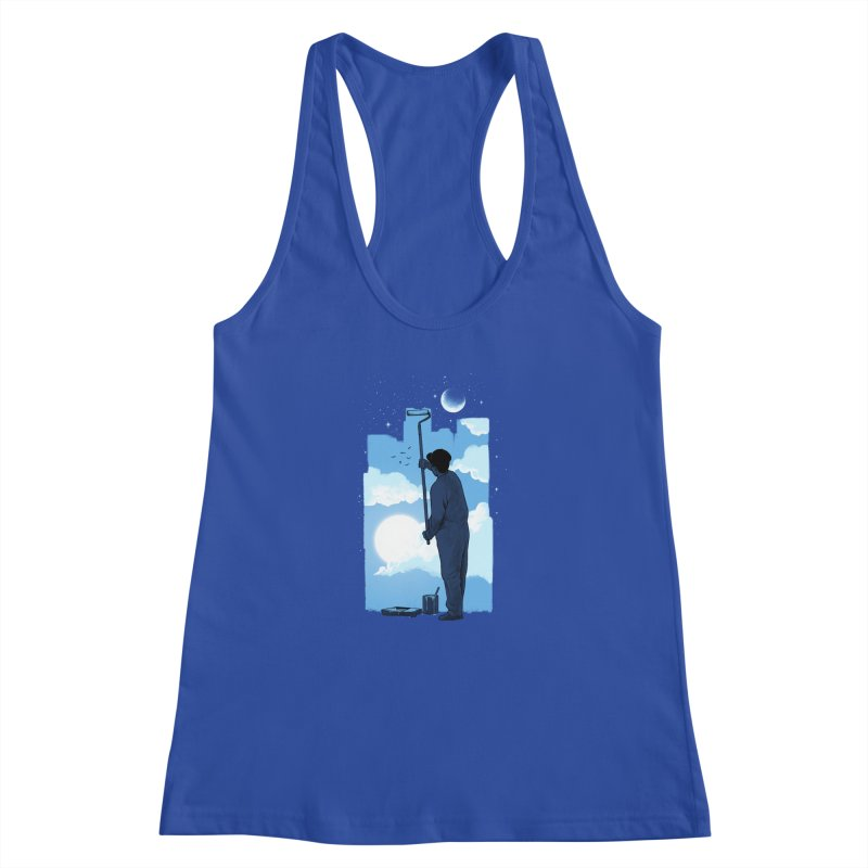 Turn of day Women's Racerback Tank by ES427's Artist Shop