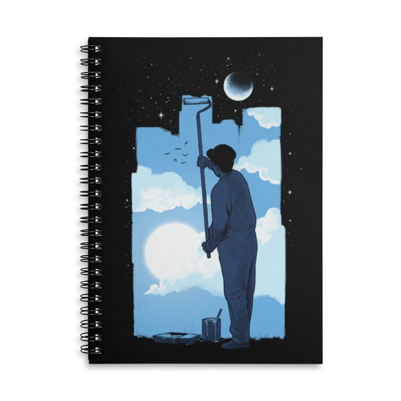 Turn of day Accessories Lined Spiral Notebook by ES427's Artist Shop