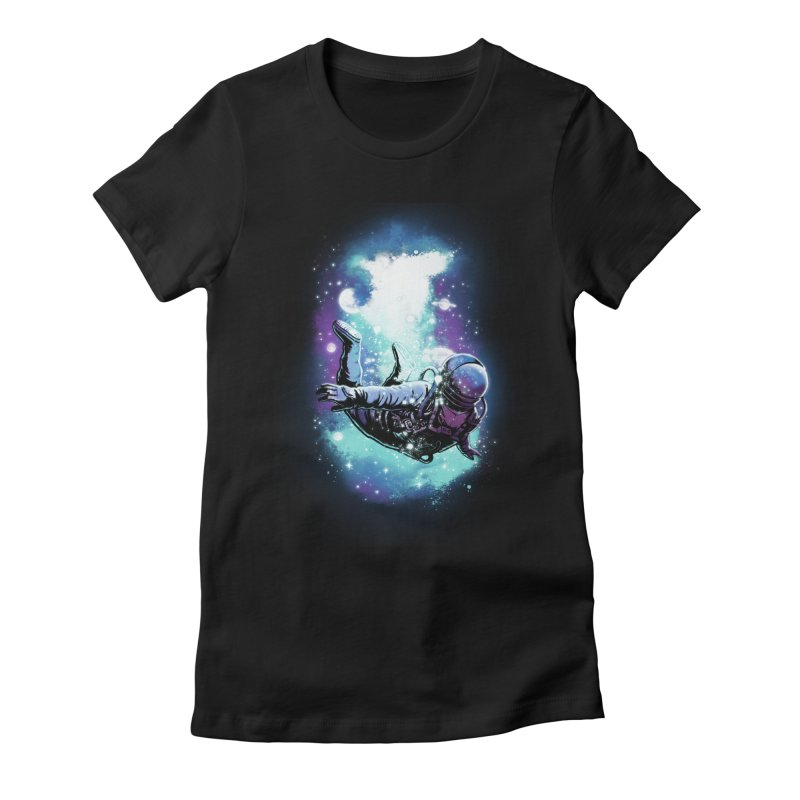 SPACE DIVING Women's Fitted T-Shirt by ES427's Artist Shop