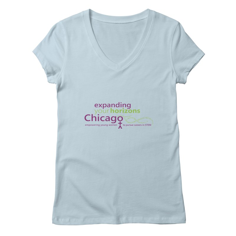 EYH Logo Tee Women's V-Neck by EYHCHICAGO's Artist Shop