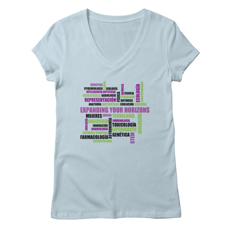 EYH Word Cluster Spanish Women's V-Neck by EYHCHICAGO's Artist Shop