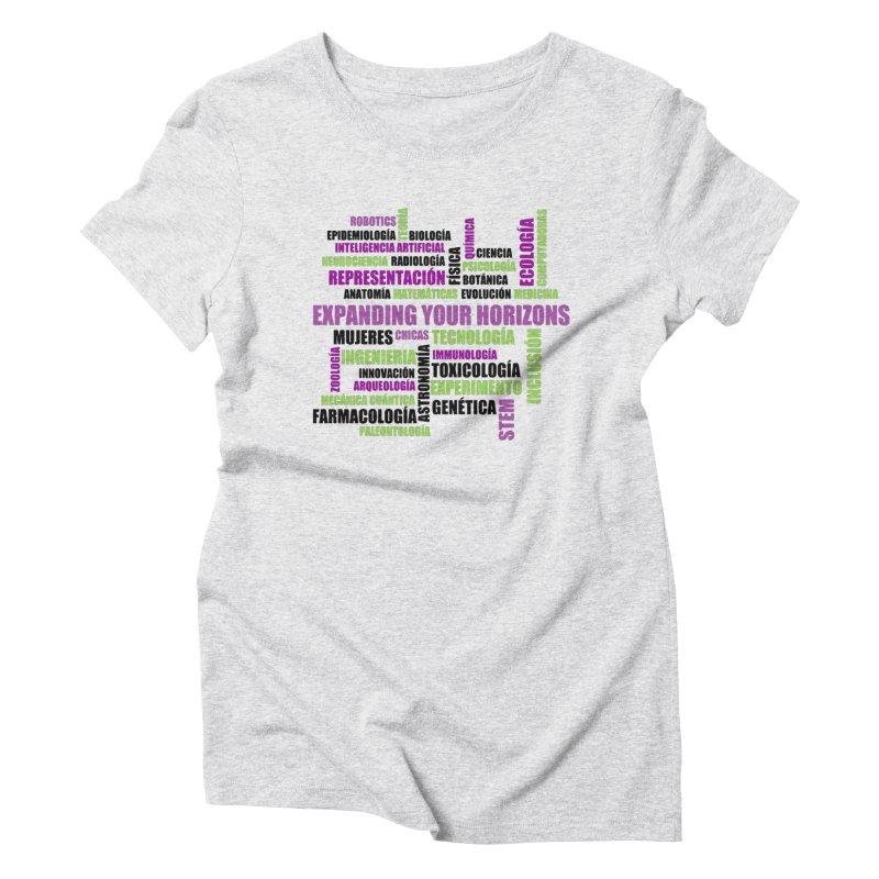 EYH Word Cluster Spanish Women's Triblend T-Shirt by EYHCHICAGO's Artist Shop