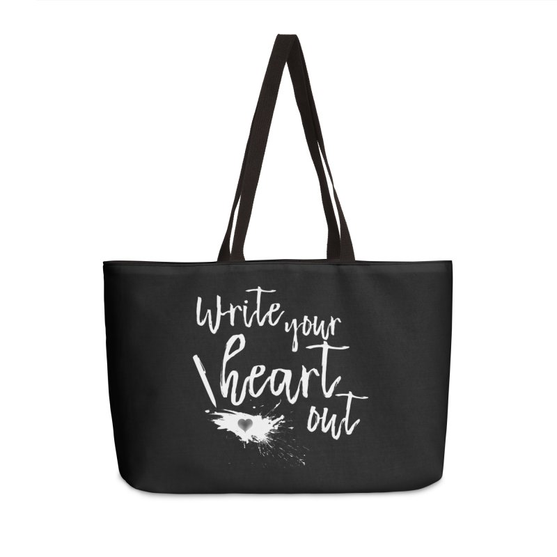 Design #3 (White) Accessories Weekender Bag Bag by EarnestWrites