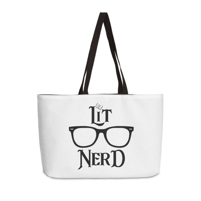 Design #5 (Black) Accessories Weekender Bag Bag by EarnestWrites
