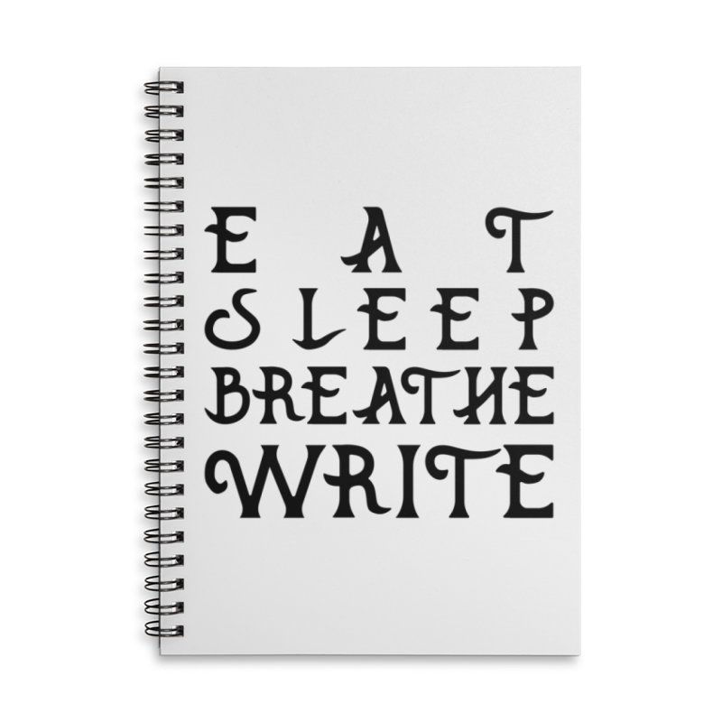 design #8 (write variant) Accessories Lined Spiral Notebook by EarnestWrites
