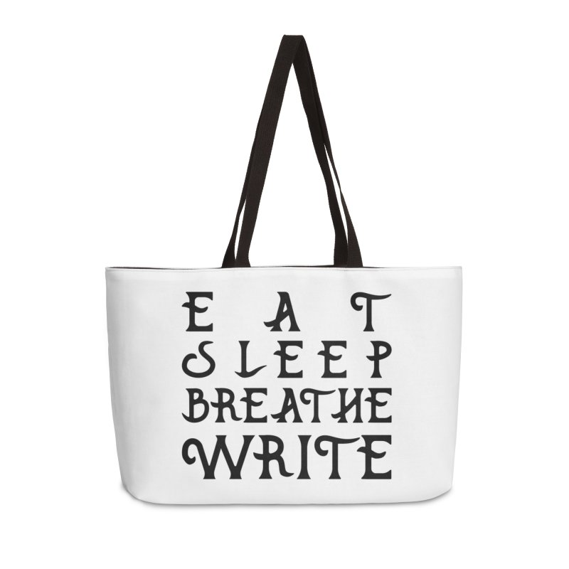 design #8 (write variant) Accessories Weekender Bag Bag by EarnestWrites