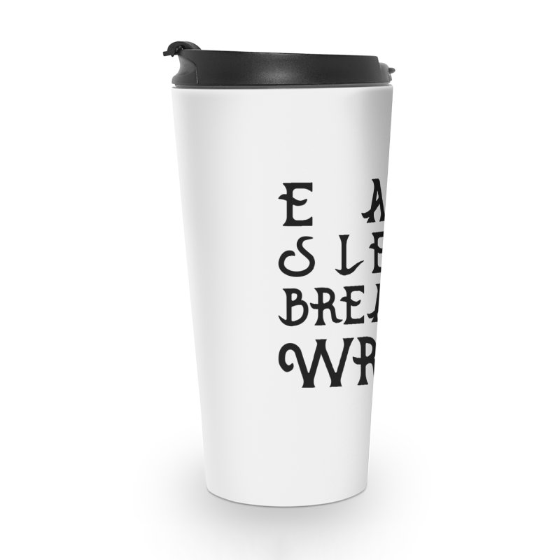 design #8 (write variant) Accessories Travel Mug by EarnestWrites