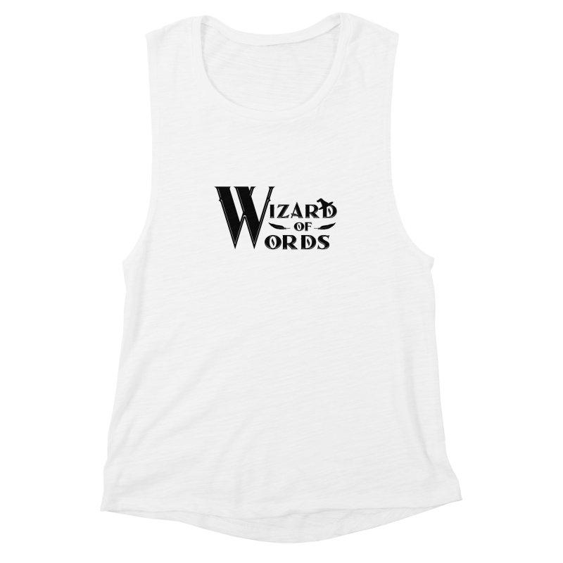 Design #9 Women's Muscle Tank by EarnestWrites
