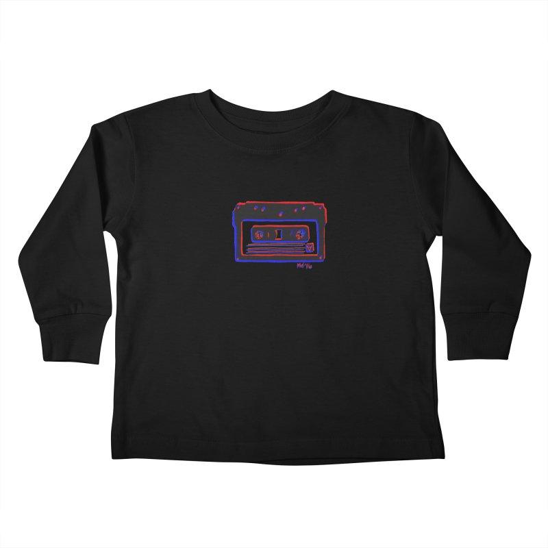 my new mixtape Kids Toddler Longsleeve T-Shirt by Earthtomonica's Artist Shop