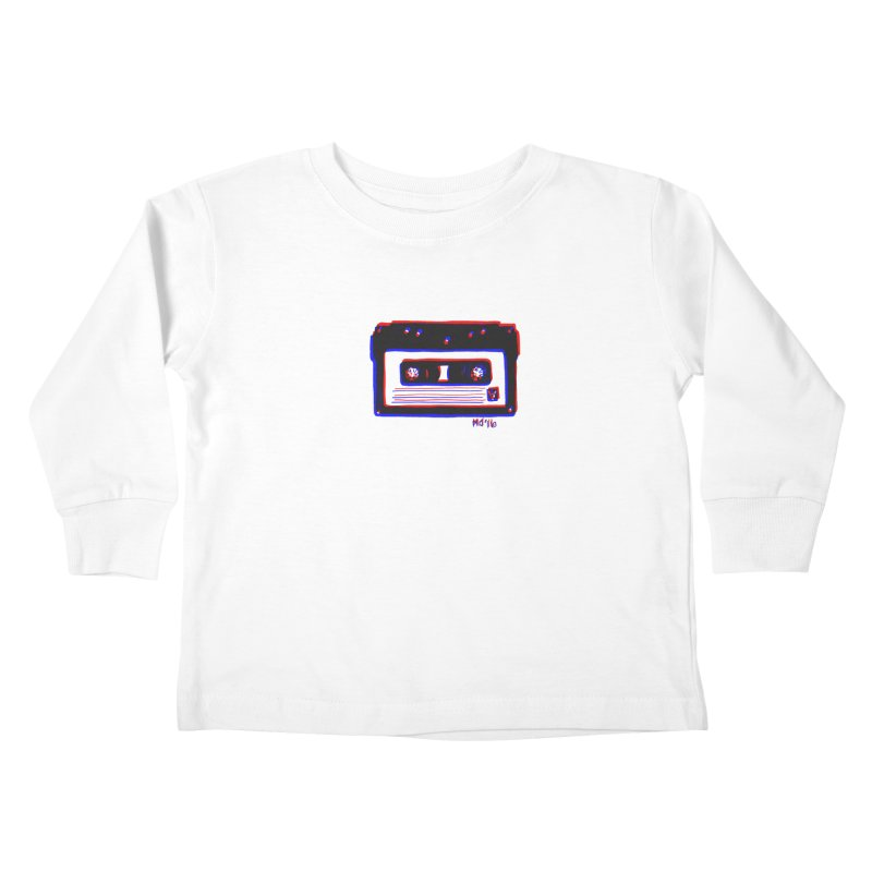 my new mixtape Kids Toddler Longsleeve T-Shirt by Earthtomonica's Artist Shop