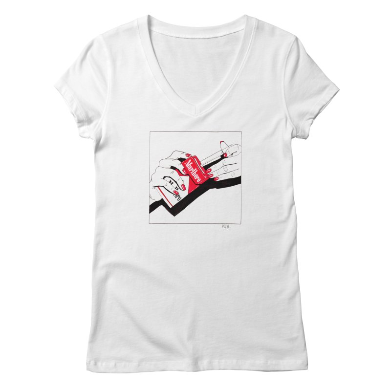 welcome to marlboro country Women's V-Neck by Earthtomonica's Artist Shop