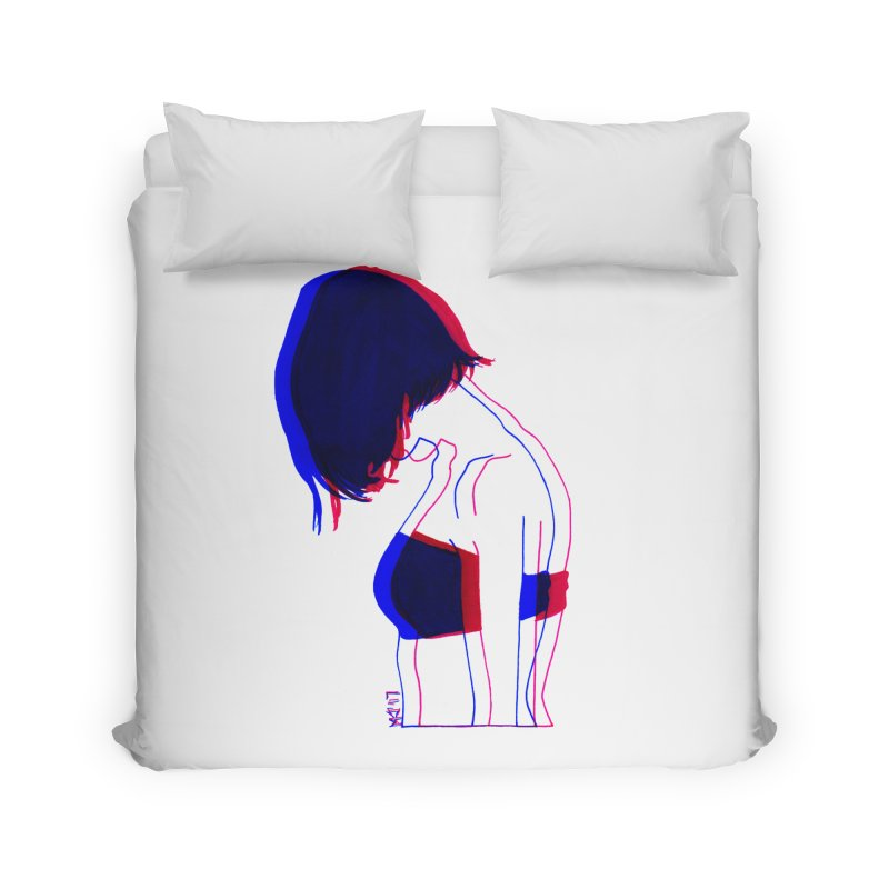 you know, i think of her sometimes Home Duvet by Earthtomonica's Artist Shop