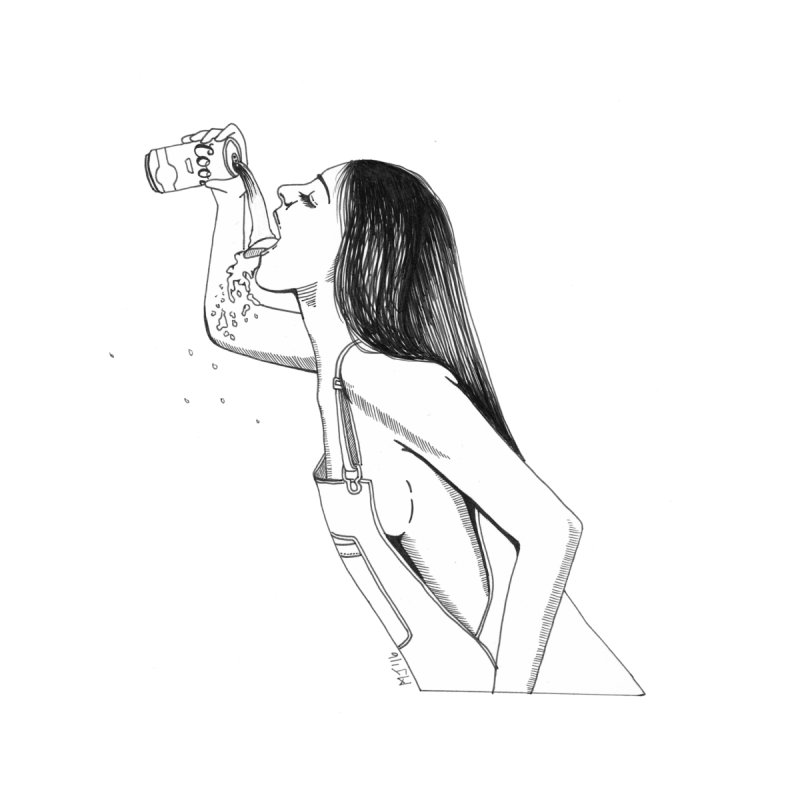 beer babe by Earthtomonica's Artist Shop