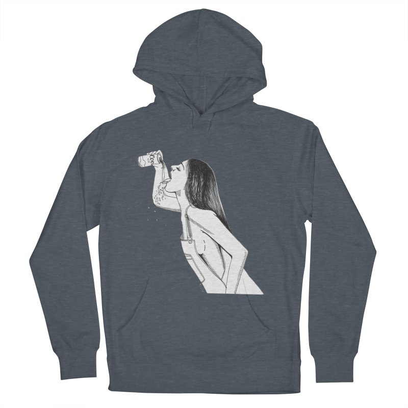 beer babe Men's Pullover Hoody by Earthtomonica's Artist Shop