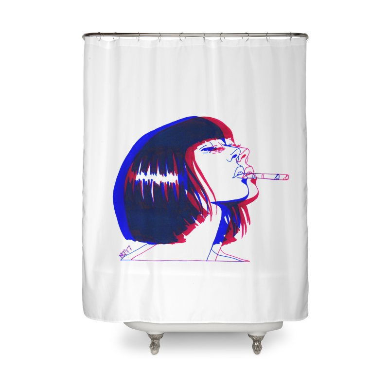 and if you'll wait for me, ill give you everything. if i could light my cigarette Home Shower Curtain by Earthtomonica's Artist Shop