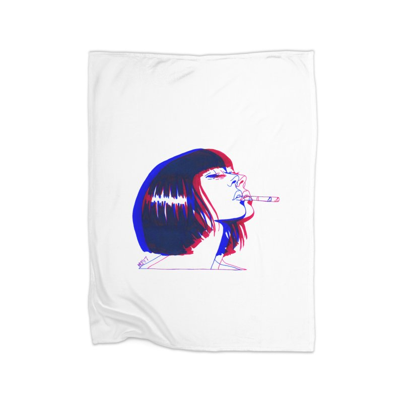 and if you'll wait for me, ill give you everything. if i could light my cigarette Home Blanket by Earthtomonica's Artist Shop