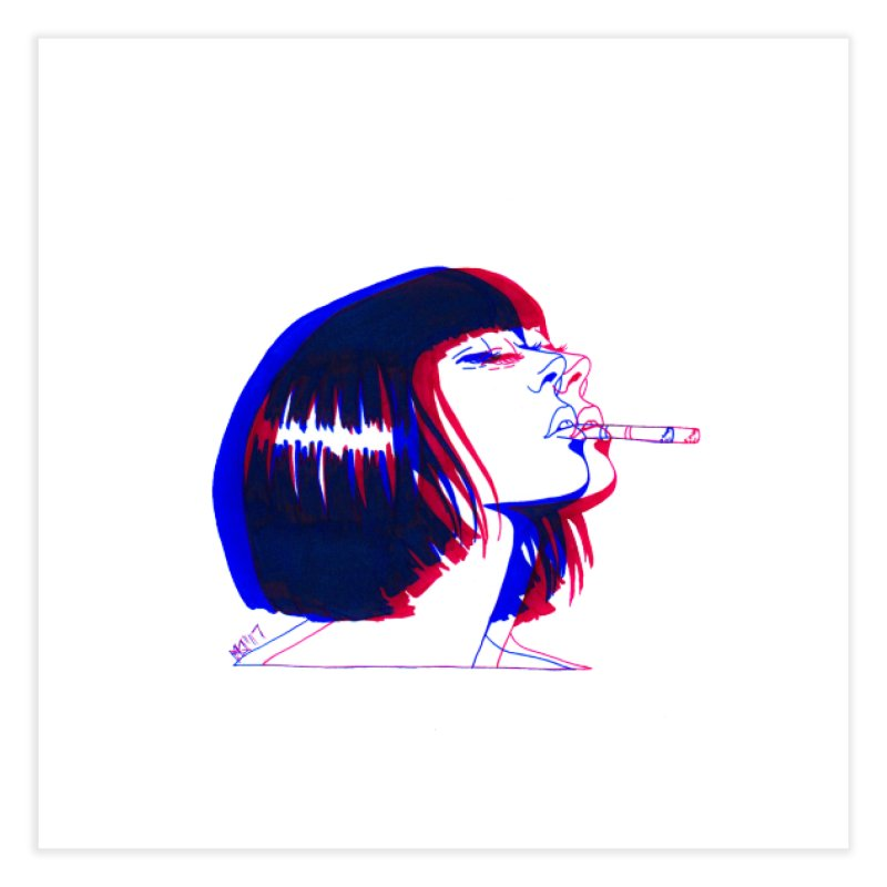 and if you'll wait for me, ill give you everything. if i could light my cigarette Home Fine Art Print by Earthtomonica's Artist Shop