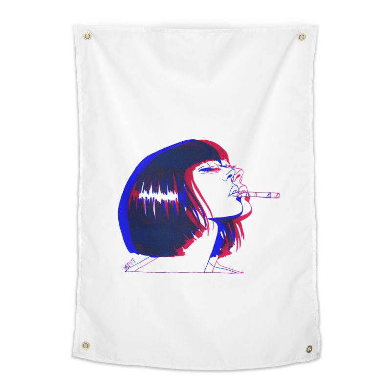 and if you'll wait for me, ill give you everything. if i could light my cigarette Home Tapestry by Earthtomonica's Artist Shop