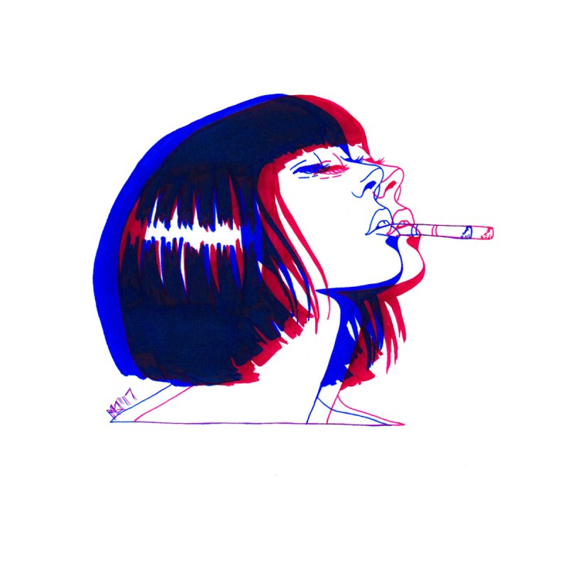 and if you'll wait for me, ill give you everything. if i could light my cigarette by Earthtomonica's Artist Shop