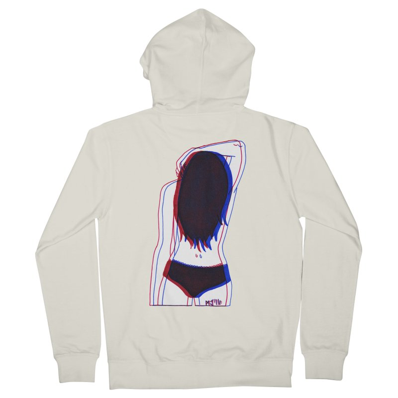 she was the first penitentiary that i'd ever seen Men's Zip-Up Hoody by Earthtomonica's Artist Shop