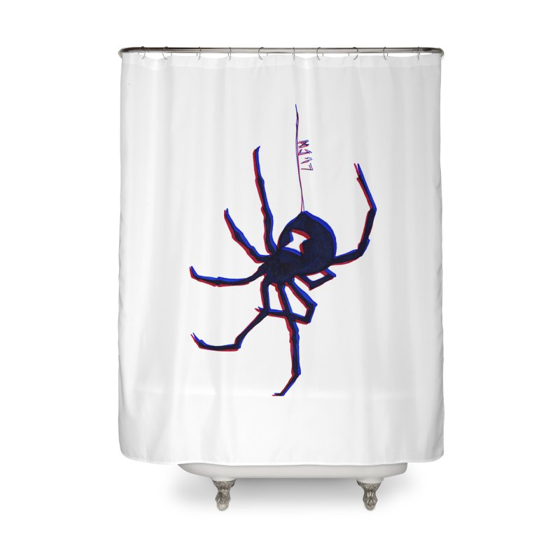 maneater Home Shower Curtain by Earthtomonica's Artist Shop