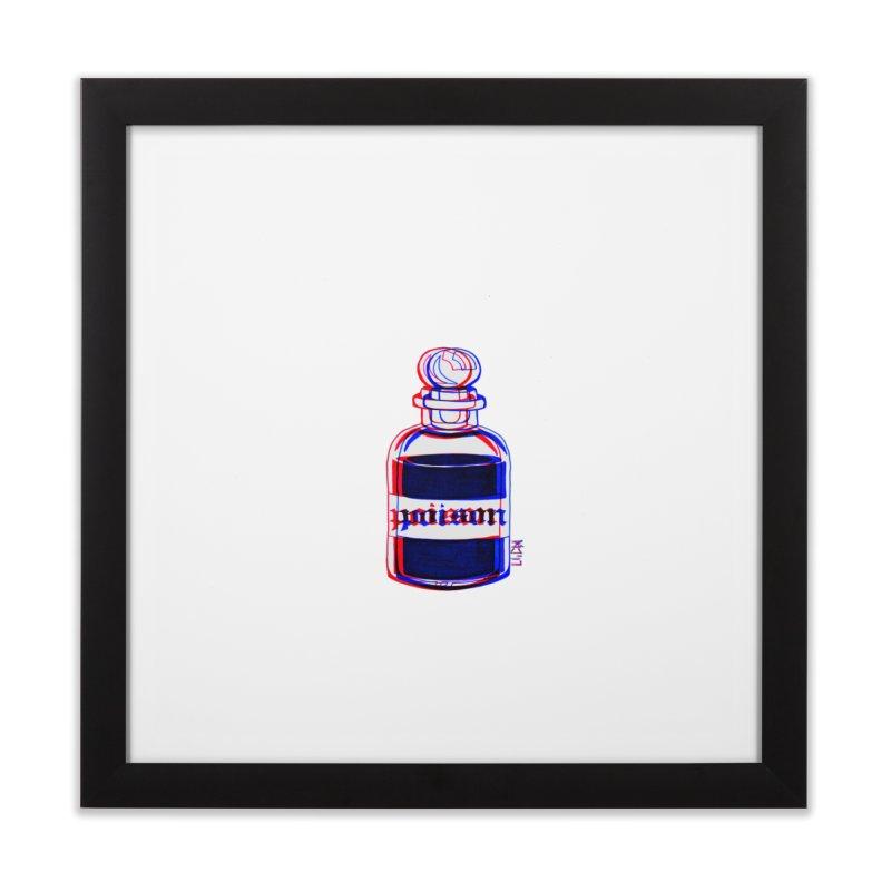 poison Home Framed Fine Art Print by Earthtomonica's Artist Shop
