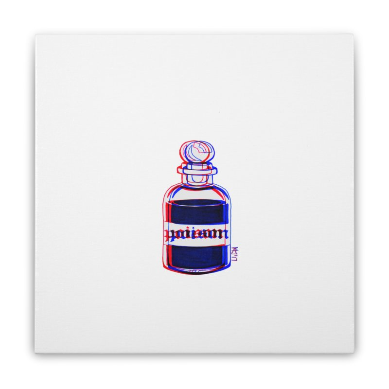 poison Home Stretched Canvas by Earthtomonica's Artist Shop