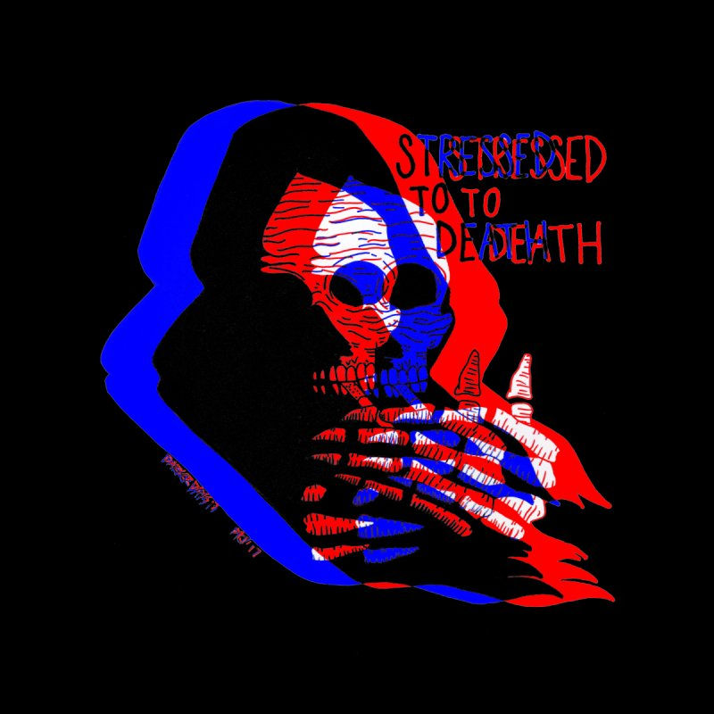 stressed to death Men's T-Shirt by EarthtoMonica