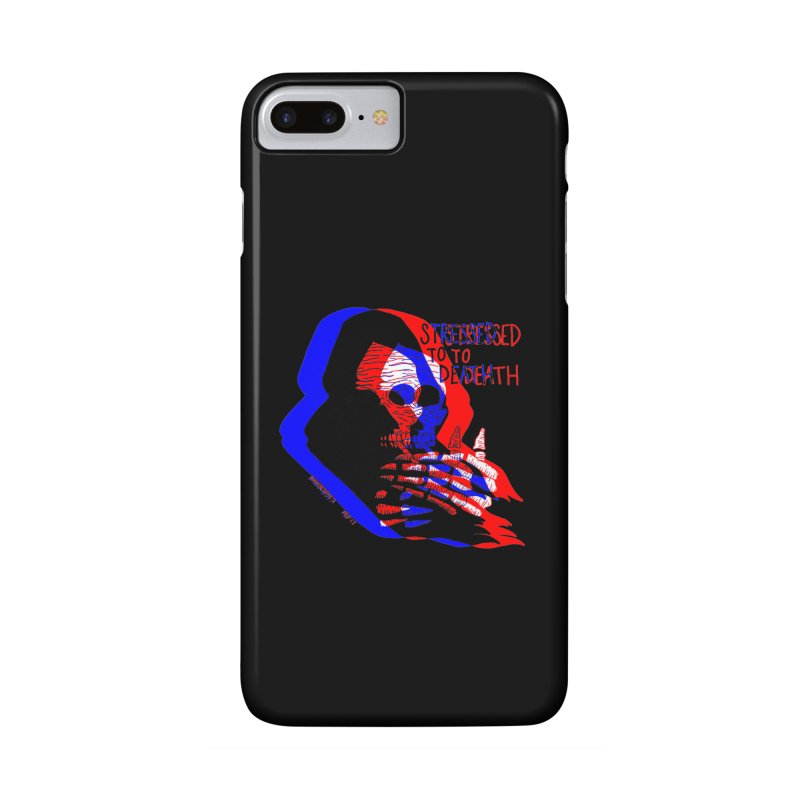 stressed to death Accessories Phone Case by Earthtomonica's Artist Shop